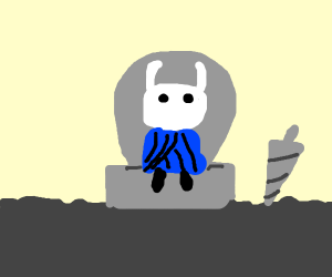 Hollow knight on his throne
