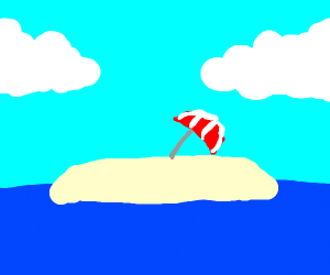 Umbrella on an Island