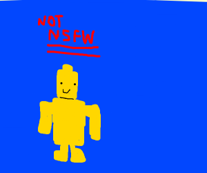 Lego but he's naked