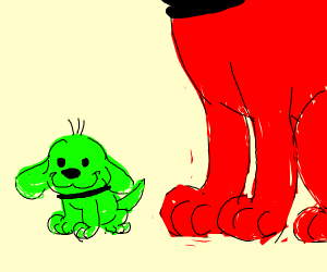 Clifford's small green brother