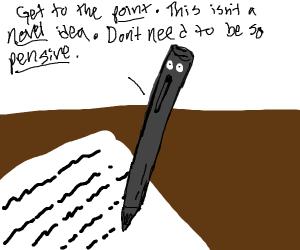 pen makes a dad joke