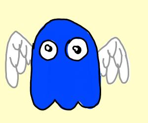 Pac man enemy has wings!