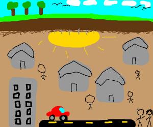 Underground civilisation