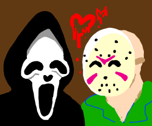 ghostface and jason voorhees are in love