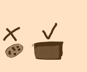 No Cookies! More Brownies.
