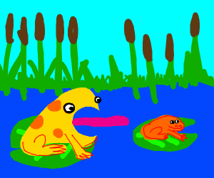 frog eating frog