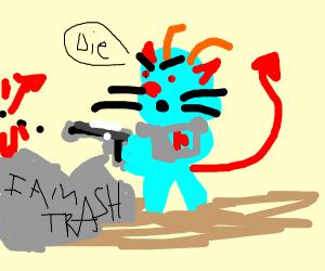 Smurf in a Battle