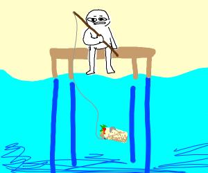 fishing a burrito