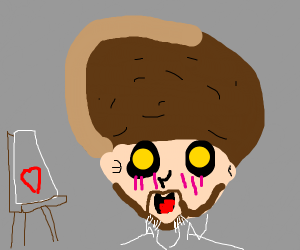 Bob Ross but kawaii