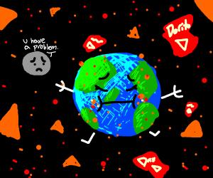 Earth has a dorito inflation problem