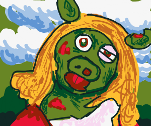 Shrek Kermit blonde pig girl
