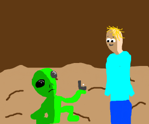 My area 51 alien proposes to me