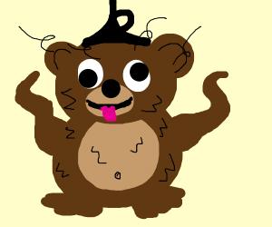 crazy/silly bear