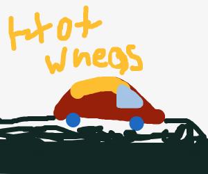 Hot wheels race cars.