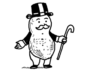 Monopoly man is a peanut now