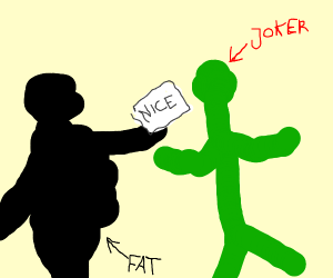 Fat black guy gives the N Word pass to Joker