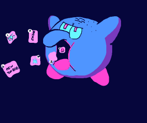 squidward kirby eats your drawception panels
