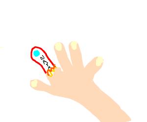 Finger rocket