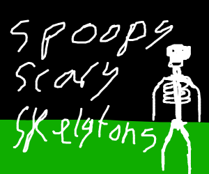 spooky scary skeletons, (speak) cont. song