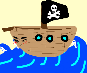 Pirate Ship with a face