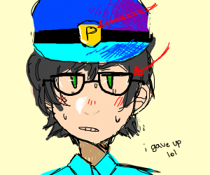 Police Officer with Glasses