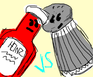 Ketchup vs Pepper