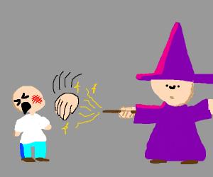 wizard cast face smack spell