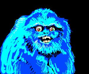 Sassy blue monkey with big eyes