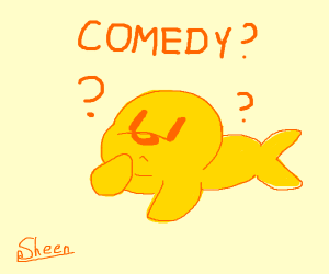 Yellow seal can't comprehend comedy