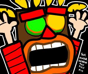 Your avatar wearing Aku Aku! (PIO)