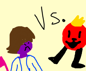 Susie fights red circle guy from Deltarune