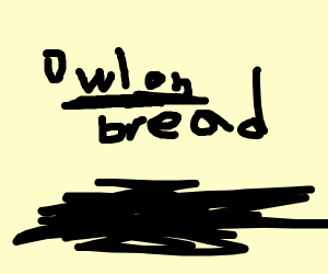 Owl on bread