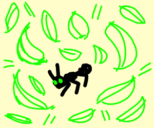 An ant with powers of leaves