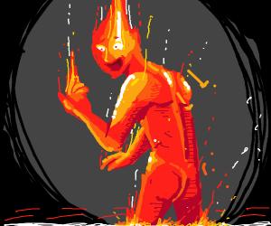 Mythical fire-like creature