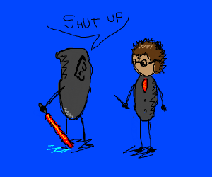 Palpatine tells Harry to shut up