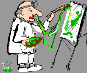 doctor paints a picture with snot