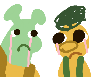sherk crying w/yellow guy from DHMIS ?