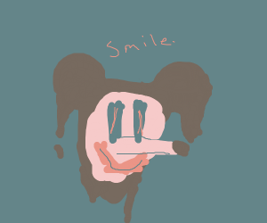 creppy mouse smiling