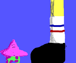 Patrick & Giant SpongeBob