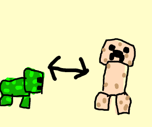 Minecraft pig and creeper texture swap