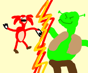 knuckles vs shrek
