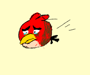 Angry Bird is now just a Sad Bird