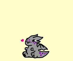 small grey dragon