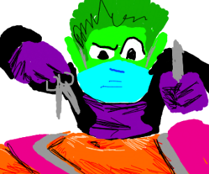 Beast Boy performs surgery