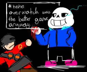 Soldier (TF2) is killed by sAnS uNdErTaLe