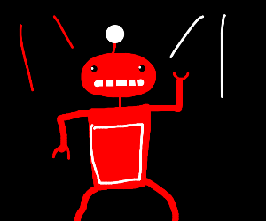 Red Robot goes insane in a rave club