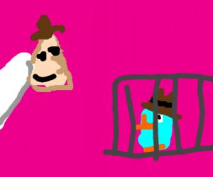 Dr. Doofenshmirtz traps Perry the Platypus