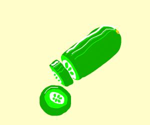 cut up cucumber