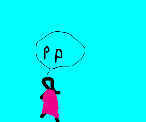 """lady in pink dress says, """" pp """""""