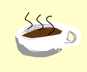 Warm dark tea cup
